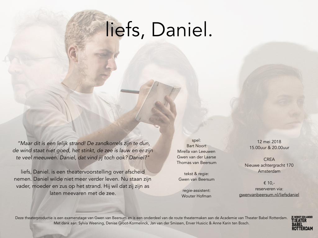 Flyer liefs Daniel